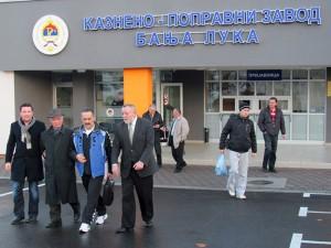 Penzionisani general Vojske Republike Srpske Novak Đukić, izlazak iz zatvora Foto: SRNA