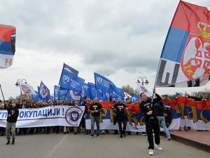 """Protest protiv NATO–a: """"Za slobodnu i suverenu Srbiju!"""" (foto: rs.sputniknews.com/)"""