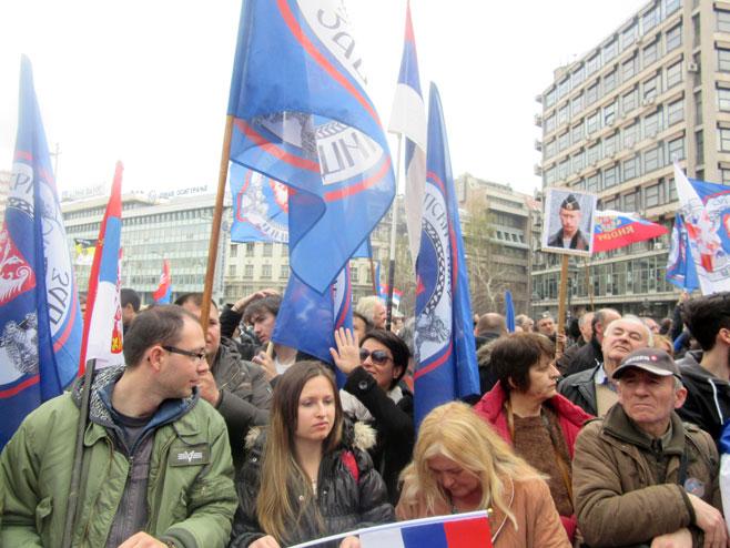 Протести у Београду (Фото: Срна)
