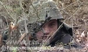 Припадник ВЈ на граници са Албанијом