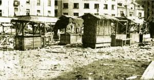 Bajlonijeva pijaca posle jednog od naleta savezničkih aviona