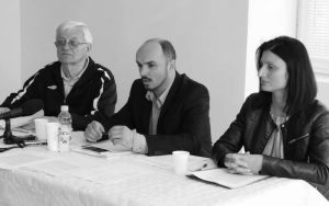 Jovan Lalić, predsednik MO Bršadin, Srđan Sekulić i Vesna Kosanović