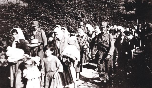 Ustaše odvode Srbe sa Kozare