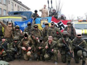 Pripadnici ukrajinske doborvoljačke jedinice Azov (foto: ukraineatwar.blogspot.com)