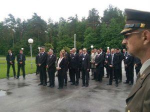 Hrvatski državni vrh u Blajburgu (Foto: Twitter)