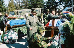 Ispraćaj posmrtnih ostataka crnogorskih rezervista JNA