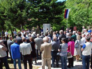 Obilježavanje 22 godine od stradanja srpskog naroda u Bradini kod Konjica Foto: SRNA