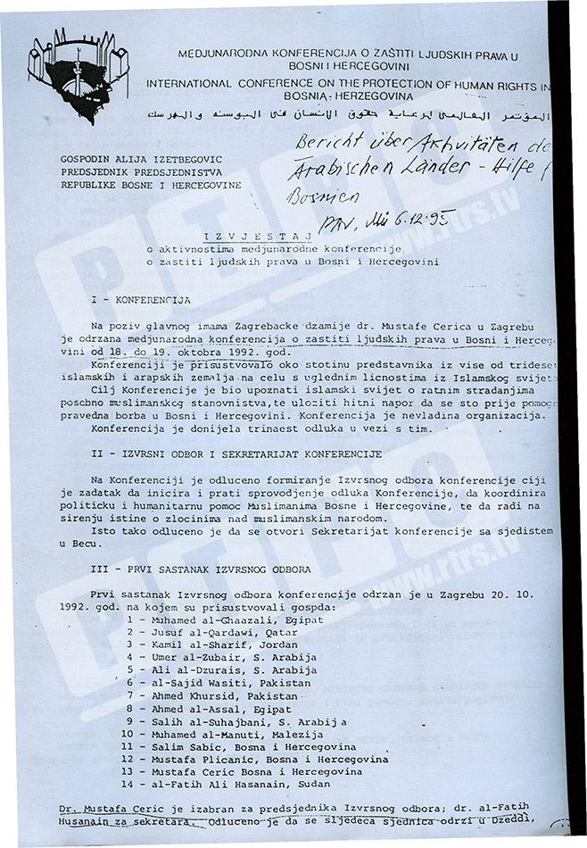 Stvaranje terorističke mreže u BiH   Foto: RTRS
