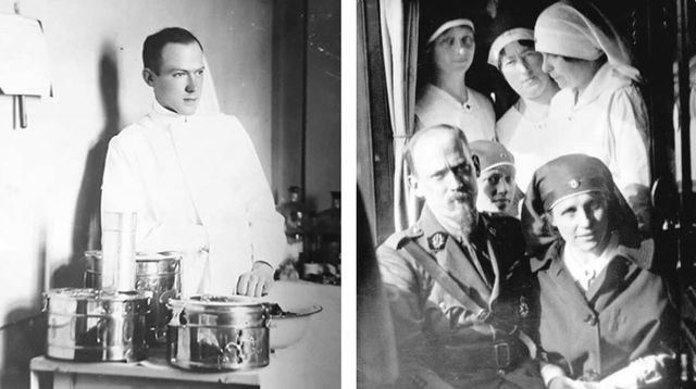 Arijus van Tinhoven (1886-1965) Van Tinhoven sa suprugom – bolničarkom Martom de Hrote