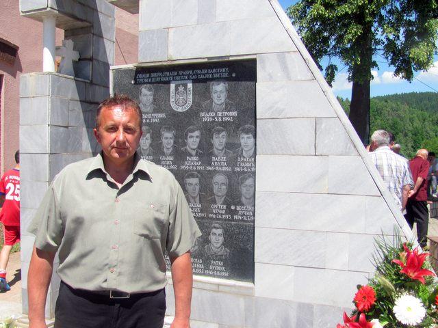 """Borac čete """"Petar Pandurević"""" Žiko Jugović."""