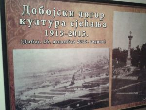 """Foča: Izložba """"Dobojski logor kultura sjećanja 1915-2015.""""  Foto: SRNA"""