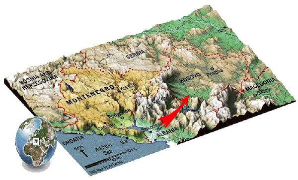 Geografski položaj karaule Košare