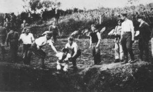 Originalan snimak bacanja u jamu načinjen krajem jula ili početkom avgusta 1941. wikipedia.org