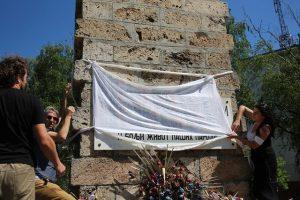 Skrnavljenje spomenika u Banjaluci FOTO: BUKA