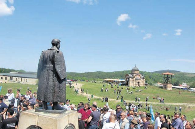 Spomenik Draži Mihailoviću na Ravnoj gori Foto: G. Otašević