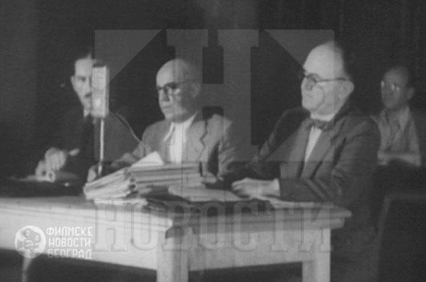Dr Joksimović (prvi zdesna) na suđenju Draži