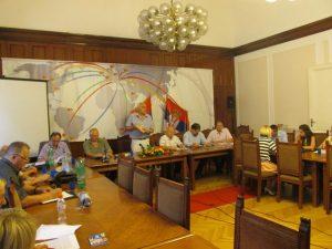 Konferenciji za novinare Udruženja Srba iz Hrvatske u Beogradu