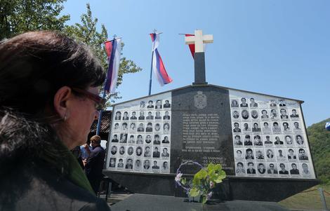 Spomenik srpskim žrtvama u Zalazju kod Srebrenice Foto: Siniša Pašalić / RAS Srbija