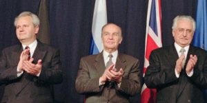 Slobodan Milošević, Alija Izetbegović i Franjo Tuđman