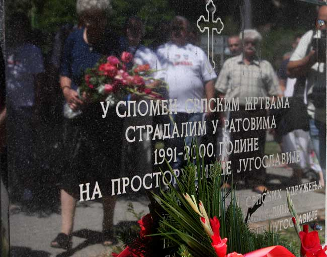 Beograd: polaganje venaca na spomenik srpskim žrtvama ratova na prostorima bivše Jugoslavije (Foto Tanjug/Sava Radovanović)