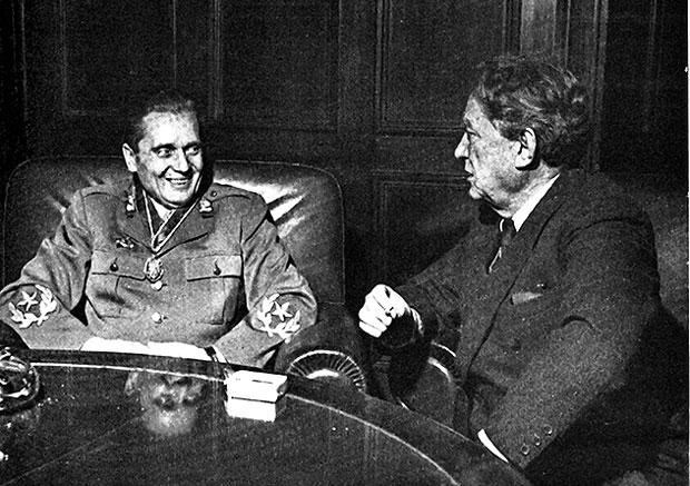 Tito i Ivan Ribar u oslobođenom Beogradu 1944. godine