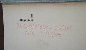 """Grafit """"Bosanske Srbe na vrbe"""""""