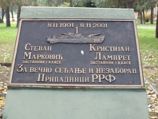 Spomen ploča Markoviću i Lampretu