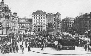 Trg bana Jelačića 1918. godine