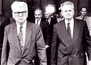 Dobrica Ćosić i Slobodan Milošević