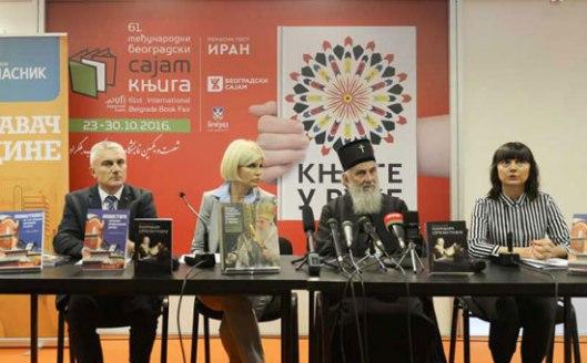 Slaviša Orlović, Jelena Trivan i patrijarh Irinej (Izvor: Glas Srpske)
