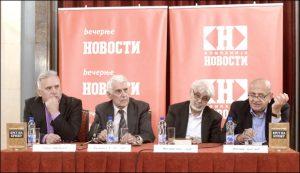Ratko Dmitrović, Vasilije Krestić, Milovan Vitezović i Milomir Kragović / Foto P. Milošević