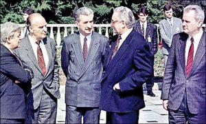 Kučan, Izetbegović, Tuđman i Milošević