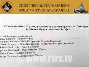 Otvoreno pismo sarajevskih Srba Foto: RTRS