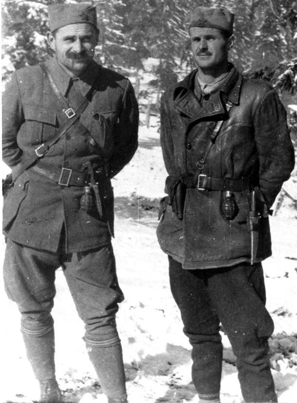 Sava Kovačević i Vojin Popović (Petar Božović) 1942.