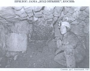 Speleolog u jami (kod općine)