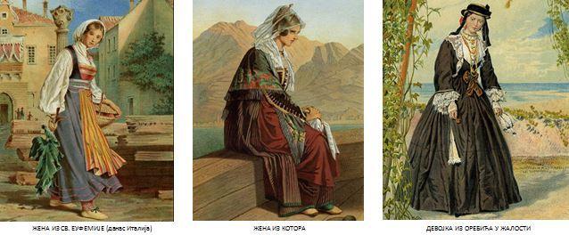 Ženska nošnja iz sv. Euf. Kotora i u žalosti