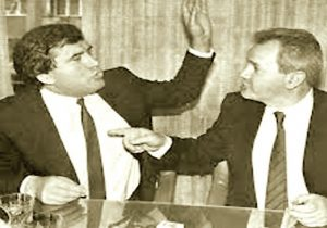 Azem Vlasi i Slobodan Milošević