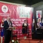 Zamjenik ministra rada i boračko-invalidske zaštite Duško Milunović na svečanoj akademiji u Nevesinju povodom godišnjice mitrovdanskih bitki 1992. u 1994. na nevesinjskom ratištu
