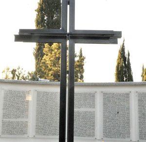 Nemačko groblje sa upisanim imenima poginulih vojnika Vermahta