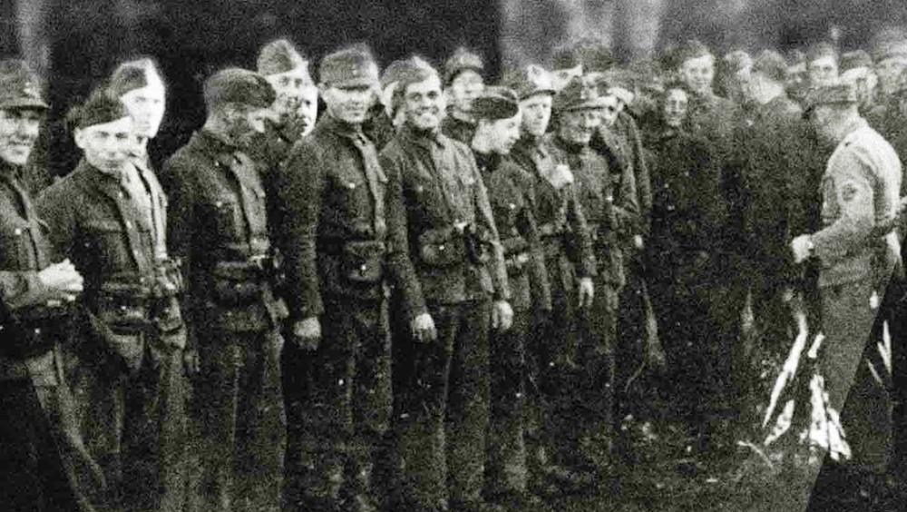 Hirden (Hirden) je bila politička vojska Nacionalnog stroja (Nasjonal Samling), kopija nemačkog SA (SturmAbteilung ). Fotografija: Kagge Forlag