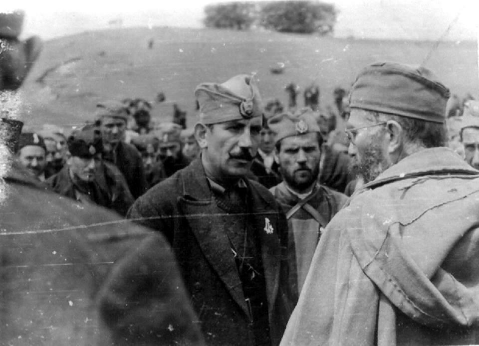 Živomir Dugić - Husar ispred Lepeničana, predaje raport svom komandantu..