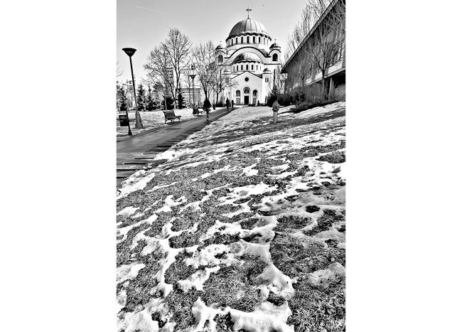 Procenat religioznih u srpskom društvu veći nego u ruskom: Hram Svetog Save (Foto D. Jevremović)