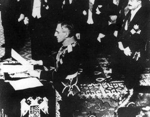 Kralj Aleksandar I proglašava Kraljevinu Jugoslaviju 3. oktobra 1929.