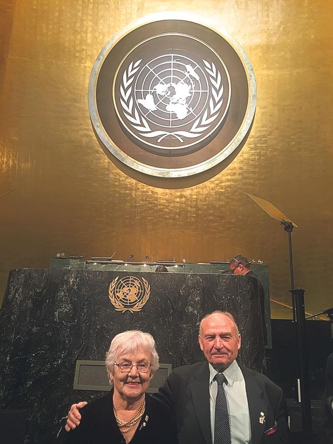 Preživeli logoraši u NDH: Jelena Radojčić i Gojko Rončević u zgradi Ujedinjenih nacija (Foto: N. Tripković)