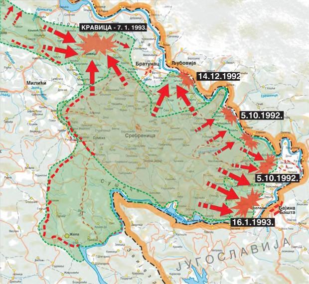 Napadi bošnjačkih oružanih snaga Srebrenice od oktobra 1992. do januara 1993. godine