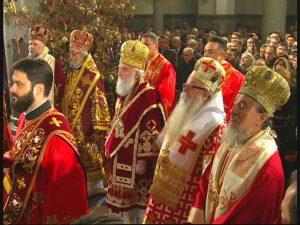 Patrijarh Irinej služi Svetu arhijerejsku liturgiju