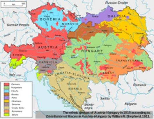 Etnička karta Austrougarske 1910. godine