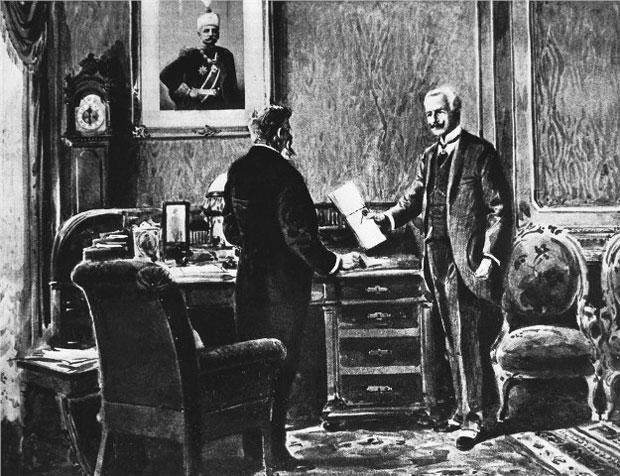 Bečki poslanik predaje ultimatum Srbiji