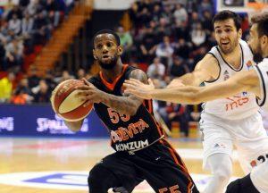 Neutralna slika sa utakmice Cedevita vs Partizan