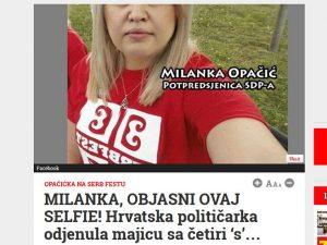 Milanka Opačić Foto: Screenshot